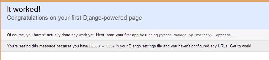 Django bienvenida